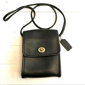 NWOT mini Coach purse Navy blue leather crossbody